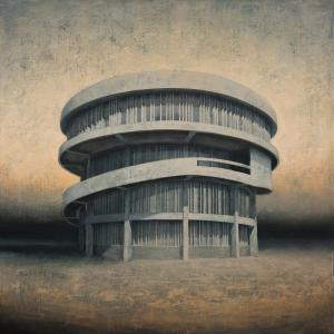 Joanna Pałys, Element Modernistyczny – Kadr 22, akryl na płótnie, 70x70cm, 2016