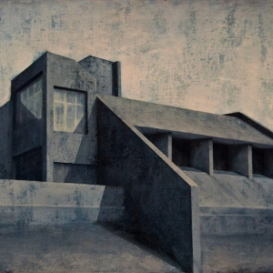 Joanna Pałys: Element modernistyczny. Kadr 4, akryl na płótnie, 2012