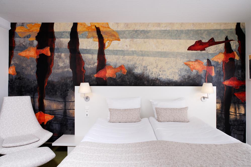 Mural zrealizowany w Hotelu Bloom, Bruksela, 2008