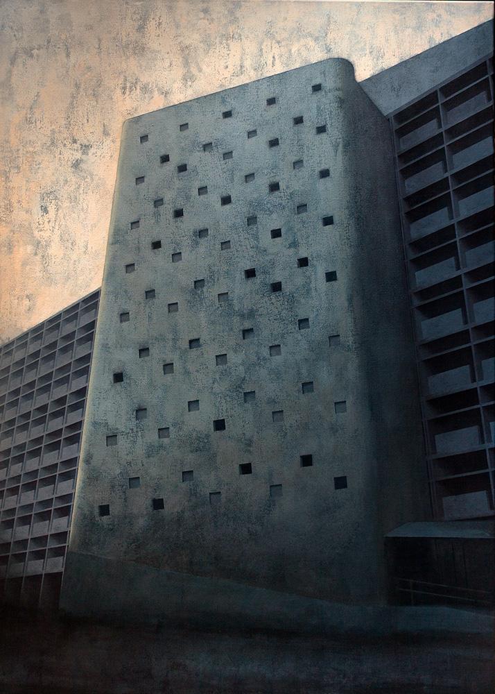 Joanna Pałys, Element Modernistyczny – Kadr 16, akryl na płótnie, 140x100cm, 2015