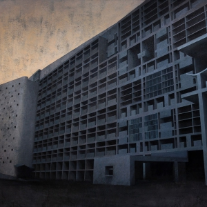 Joanna Pałys, Element Modernistyczny – Kadr 17, akryl na płótnie, 100x130cm, 2015