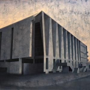 Joanna Pałys, Element Modernistyczny – Kadr 18, akryl na płótnie, 100x110cm, 2015
