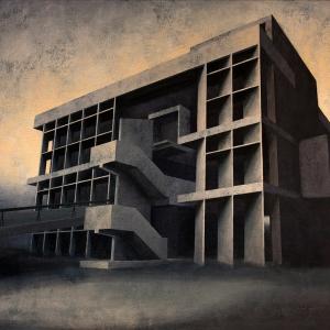 Joanna Pałys, Element Modernistyczny – Kadr 19, akryl na płótnie, 80x100cm, 2015