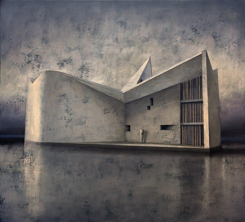 Joanna Pałys, Element Modernistyczny – Kadr 20, akryl na płótnie, 100x110cm, 2015