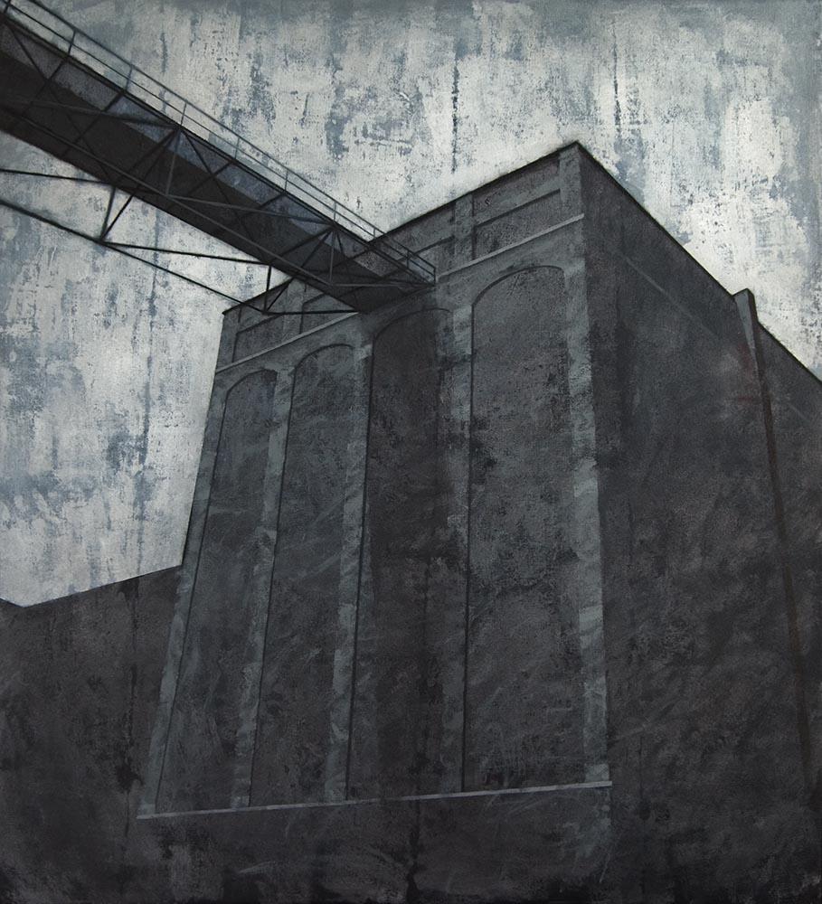 Joanna Pałys, Obiekt 6MW, akryl na płótnie, 110x100cm, 2010 rok