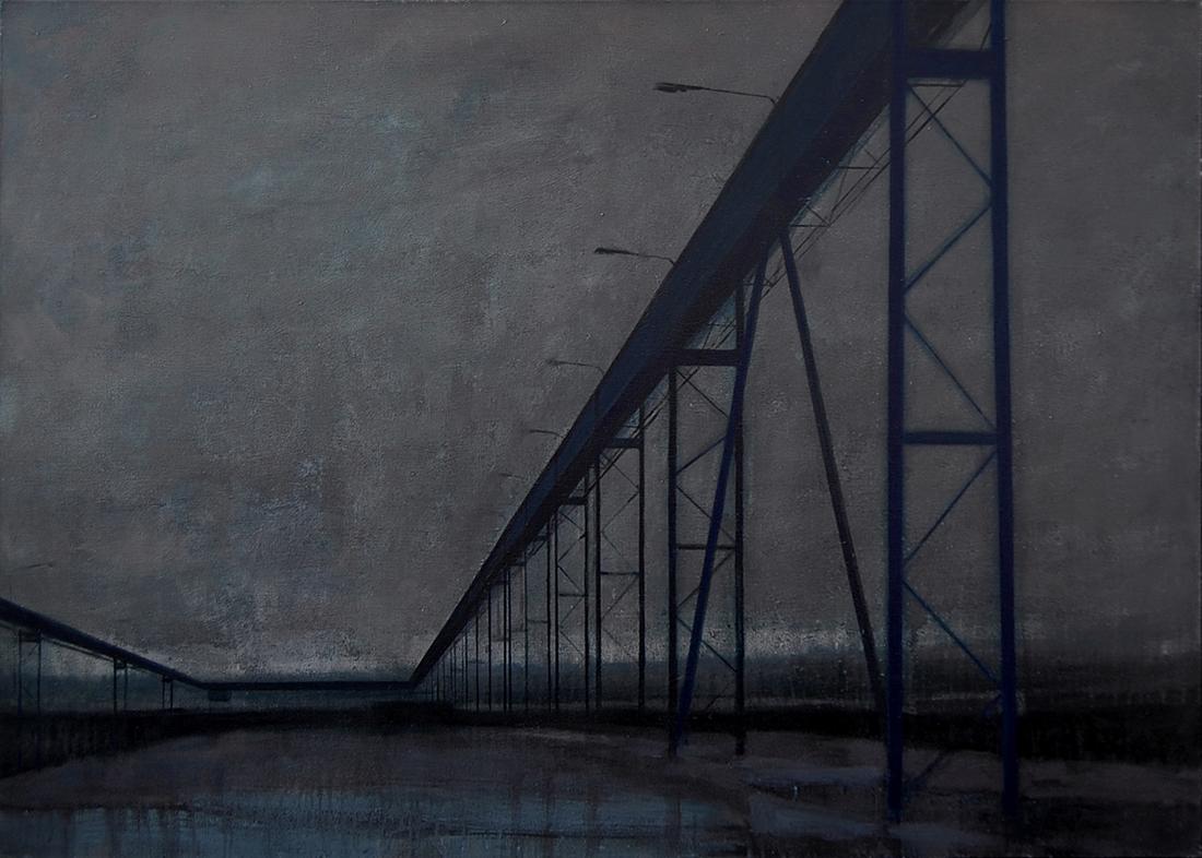 "Joanna Pałys ""Nokturn I"", akryl na płótnie, 100x140cm, 2007"