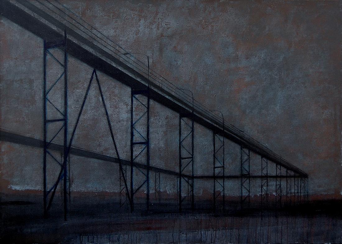 """Joanna Pałys """"Nokturn II"""", akryl na płótnie, 100 x 140cm, 2007"""