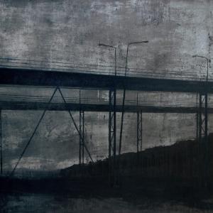 Joanna Pałys, Nokturn V, akryl na płótnie, 100x130cm, 2007