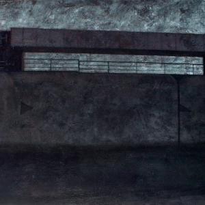 """Joanna Pałys """"Nokturn III"""", technika mieszana na płótnie, 140x100cm, 2007 r"""