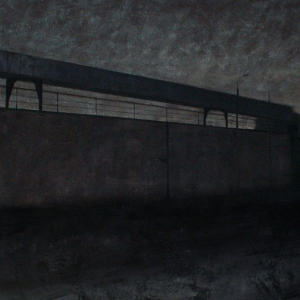 """Joanna Pałys """"Nokturn IV"""", akryl na płótnie, 100 x 150 cm, 2007 r."""