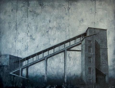 """Joanna Pałys, """"Obiekt 28N"""", 100x130cm, akryl na płótnie, 2011 rok"""