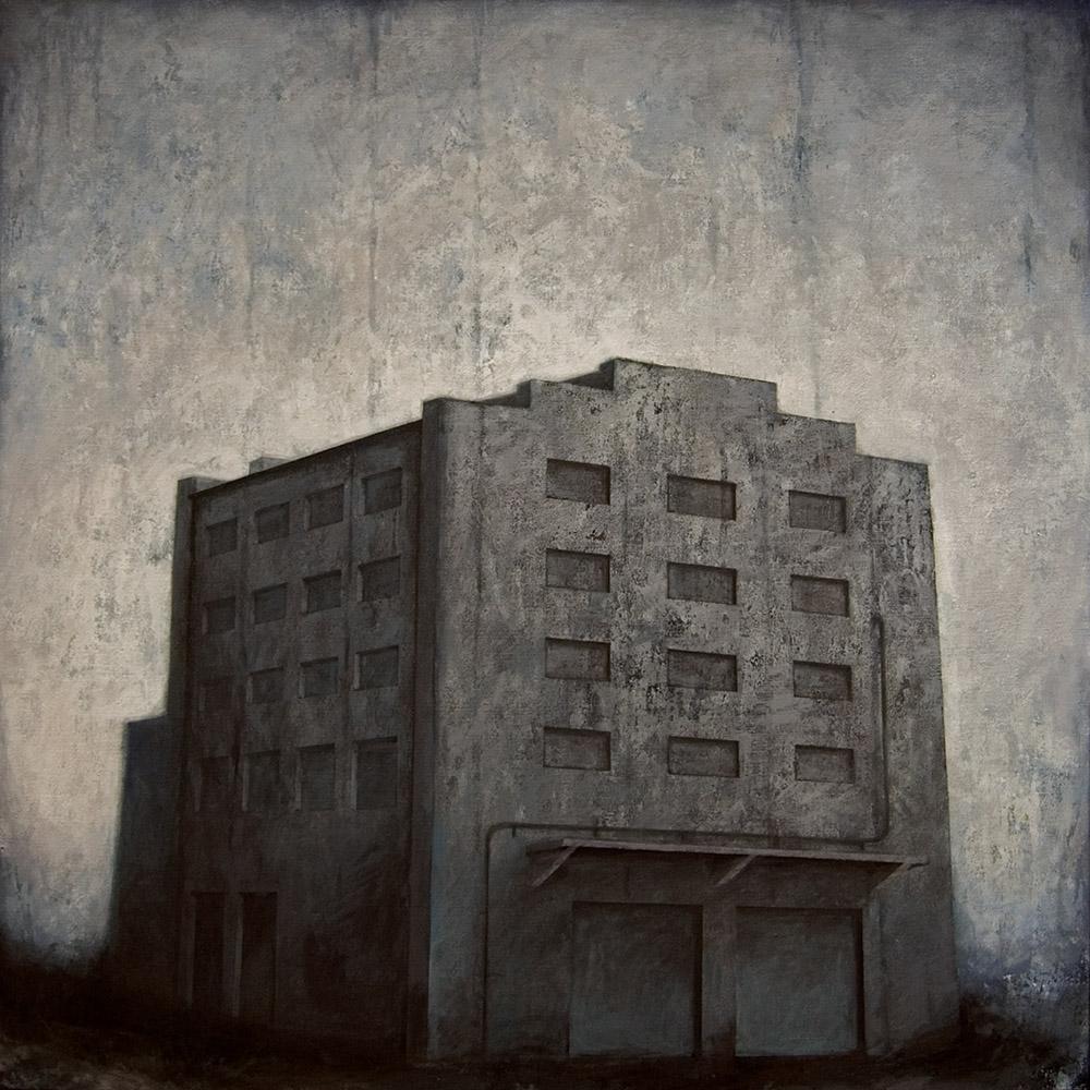 """Joanna Pałys, """"Obiekt 34"""", akryl na płótnie, 100x100cm, 2010 rok."""