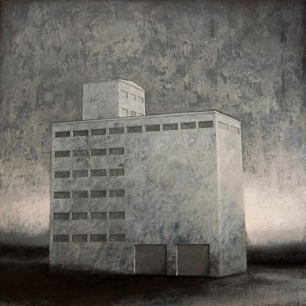 """Joanna Pałys """"Obiekt 70"""", akryl na płótnie, 100x100cm, 2010 rok"""