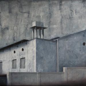 """Joanna Pałys """"Obiekt I03"""", akryl na płótnie, 70x100cm, 2011 rok."""