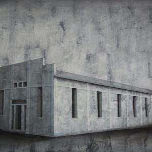 "Joanna Pałys ""Obiekt I01"", akryl na płótnie, 70x100cm, 2011 r."