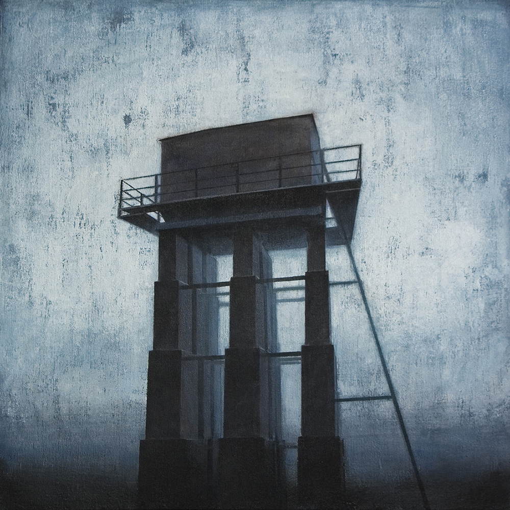 """Joanna Pałys, """"Obiekt I02"""", akryl na płótnie, 55x55cm, 2011 rok"""