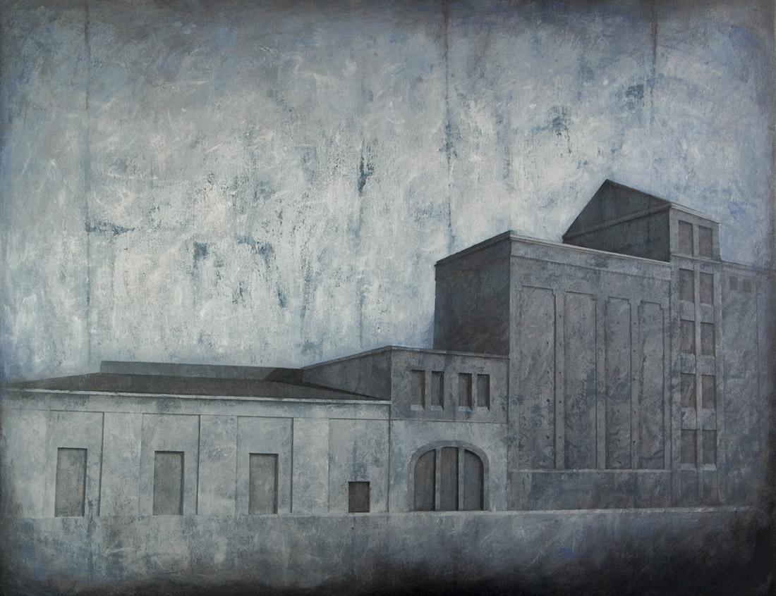 """Joanna Pałys """"Obiekt M01"""", akryl na płótnie, 100x130cm, 2010 rok."""
