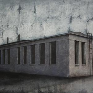 """Joanna Pałys """"Obiekt P13"""", akryl na płótnie, 60x100cm, 2011 rok."""