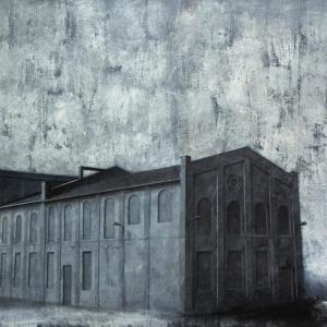 """Joanna Pałys, obraz """"Obiekt P82"""", akryl na płótnie, 100x130cm, 2010"""