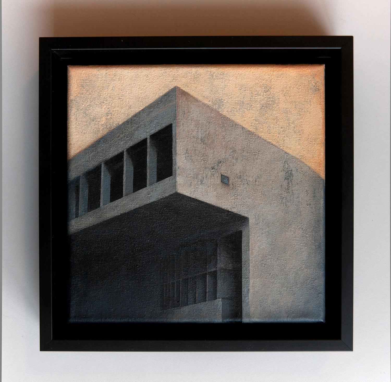 Joanna Pałys, Element Modernistyczny – Kadr 14,akryl na płótnie, 20x20cm, 2014