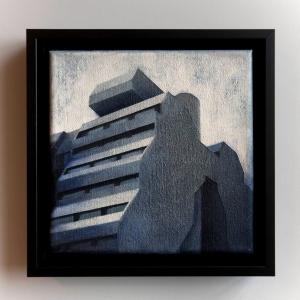 Joanna Palys, Element Modernistyczny – Kadr 15-C, akryl na płótnie, 20x20cm, 2015