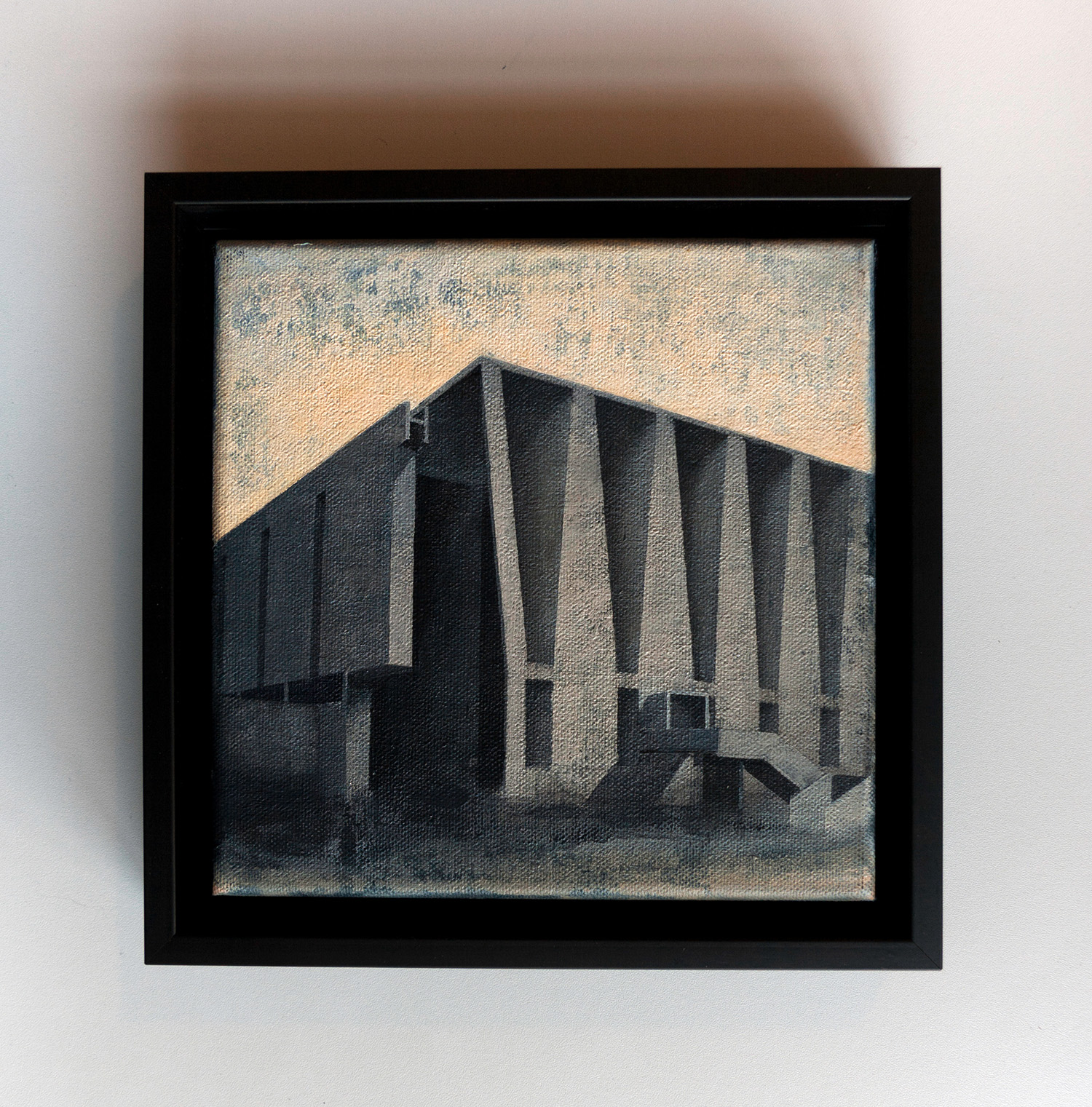 Joanna Pałys, Element Modernistyczny – Kadr 18-B, akryl na płótnie, 20x20cm, 2015