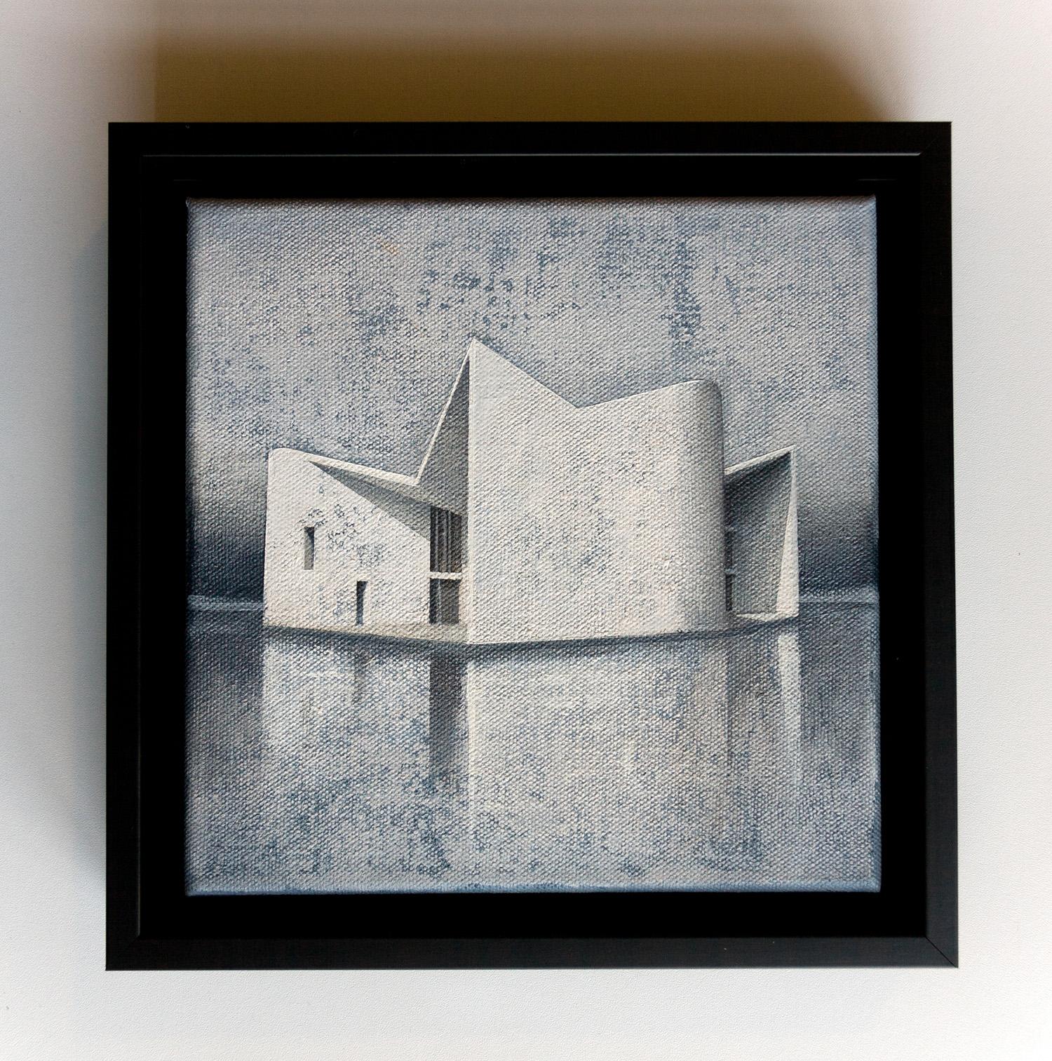 Joanna Pałys, Element Modernistyczny – Kadr 20-B, akryl na płótnie, 20x20cm, 2015