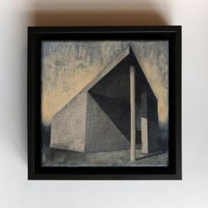 Joanna Pałys, Element Modernistyczny. Kadr 21-B, akryl na płótnie, 20x20cm, 2015