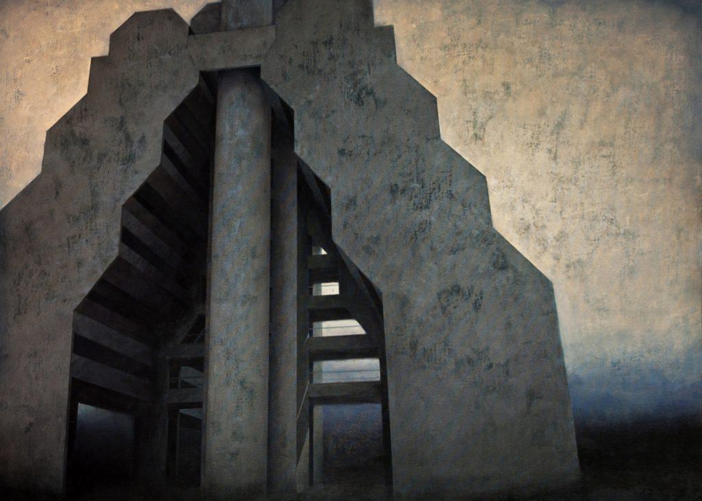Joanna Pałys, Element Modernistyczy - Kadr 15, akryl na płótnie, 100x130cm, 2015