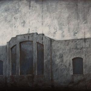 "Joanna Pałys ""Obiekt 1048"", akryl na płótnie, 60x100cm, 2010 r."