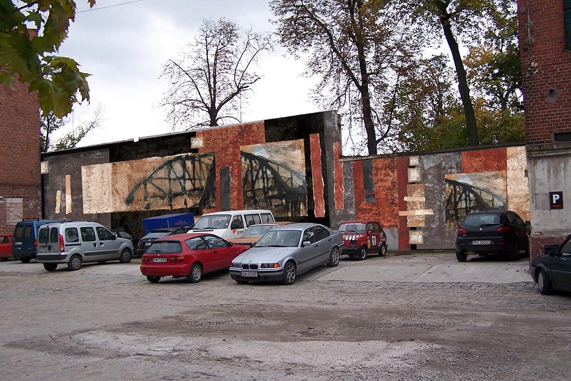 Wizualizacja projektu malarstwa ściennego na terenie Browaru Mieszczańskiego we Wrocławiu