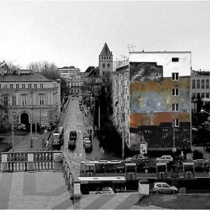 Wizualizacja serii projektów malarstwa ściennego, Śródmieście, Wrocław 2005