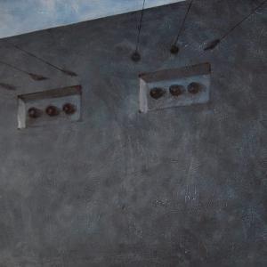 "Joanna Pałys ""Bunkier"", akryl na płótnie, 100 x 140cm, 2007 r."