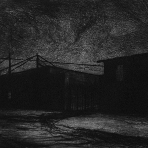 Joanna Pałys: Nokturn, sucha igła, 12,9x15,7cm, 2006