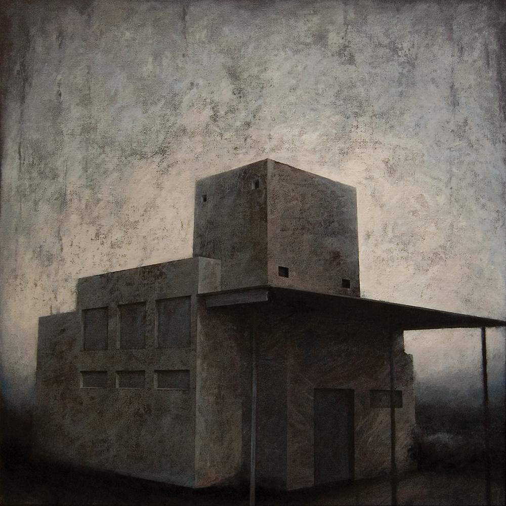 "Joanna Pałys, obraz: ""Obiekt 3"", akryl na płótnie, 100 x 100cm, 2010"