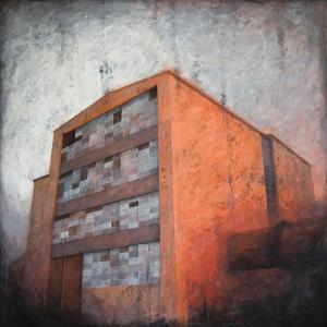 """Joanna Pałys, """"Obiekt A 046"""", 100 x 100 cm, akryl na płótnie, 2010 r."""