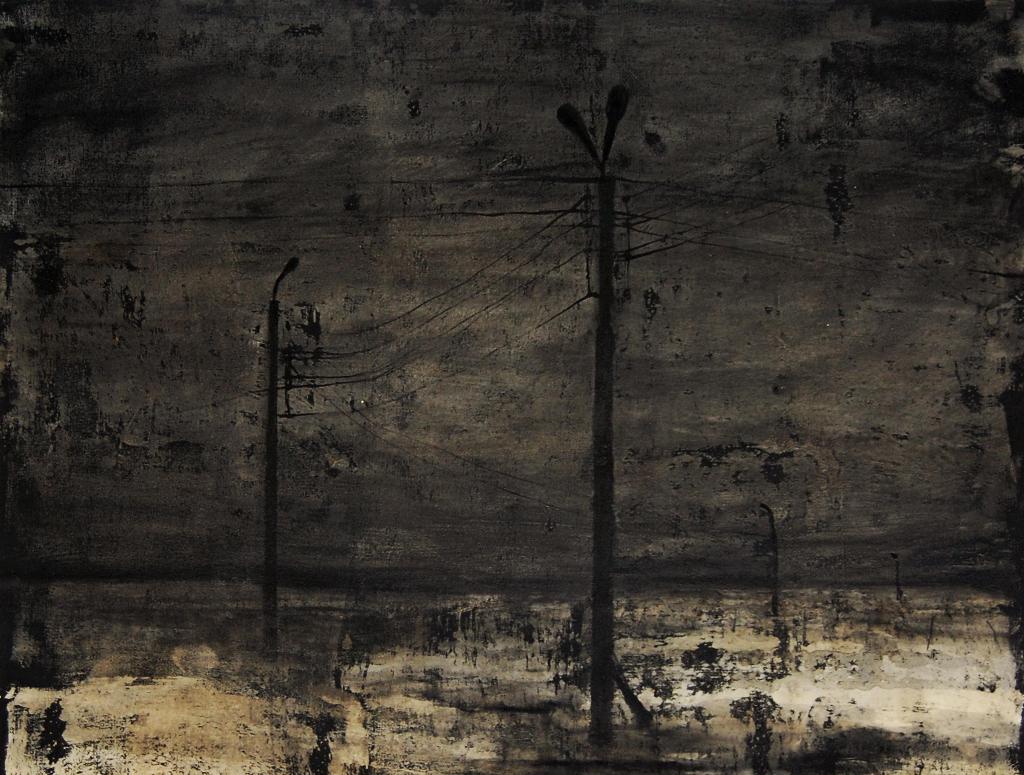 """Joanna Pałys: bez tytułu, praca z cyklu """"Nokturny"""", 53x70cm, 2006"""
