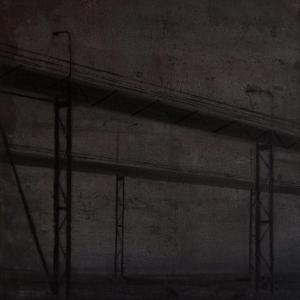"""Joanna Pałys, praca z cyklu """"Nokturny"""", akryl na tekturze, 70 x 50cm, 2007"""