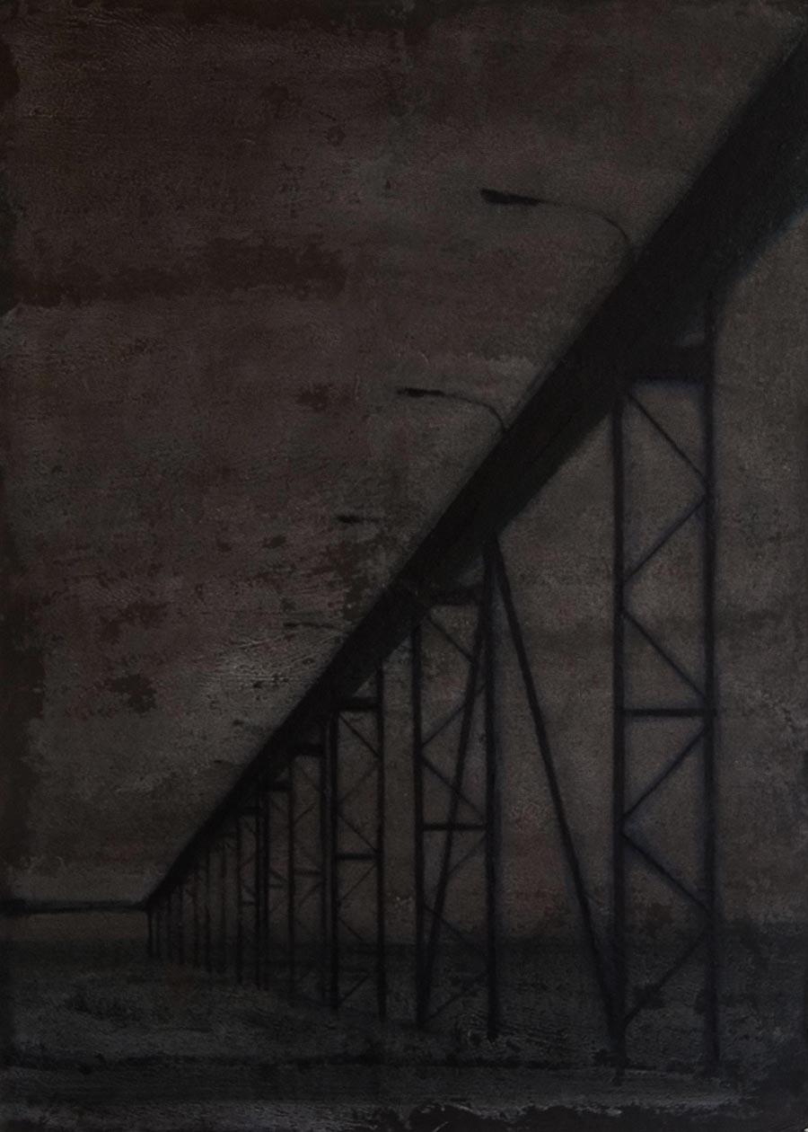 """Joanna Pałys, obraz z cyklu """"Nokturny"""", akryl na tekturze,  70x50cm, 2007"""