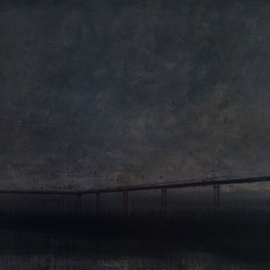 "Joanna Pałys, obraz z cyklu ""Nokturny"", akryl na płótnie, 90 x 140cm, 2007"